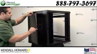 Kendall Howard 3140-3-001-12 12u Fixed Wallmount Server Enclosure Cabinet