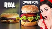 Food In Commercials VSIn Real Life !