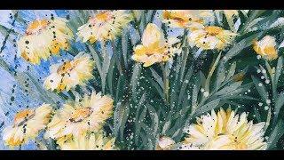 EVERLASTING LOVE - Yellow Paper Daisy - Timelapse Art Video BY HSIN LIN ART