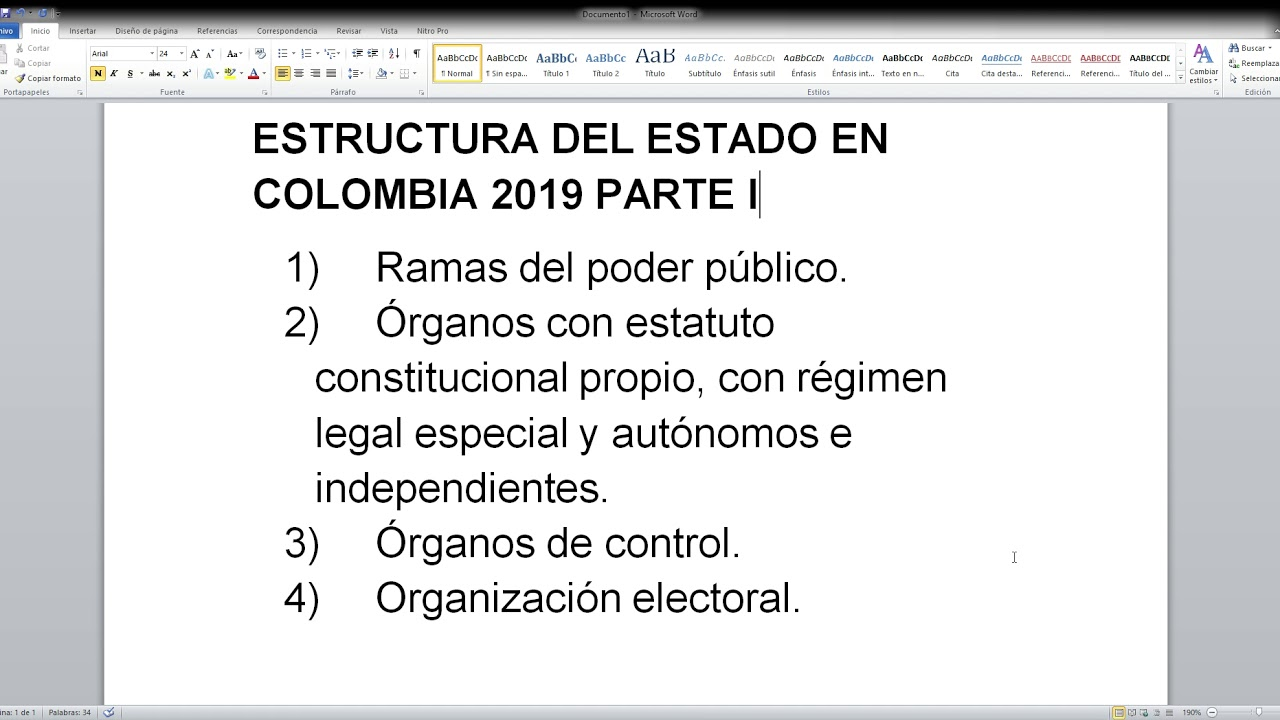 Estructura Del Estado En Colombia 2019 Parte I Youtube