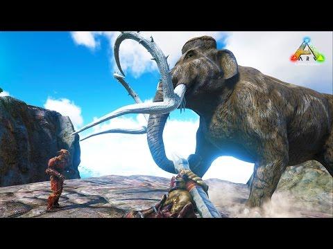 HikePlays ARK Survival - Taming BIG DINOs!! MAMMOTH!! - Dino Hunter! w/ Stream Team!