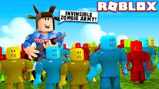WORLD'S MOST POWERFUL ZOMBIE ARMY! (Roblox Zombie Simulator)