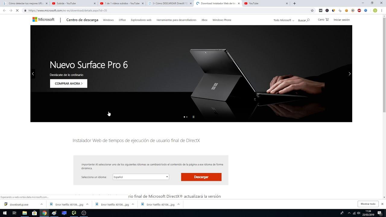descargar directx 13 para windows 10