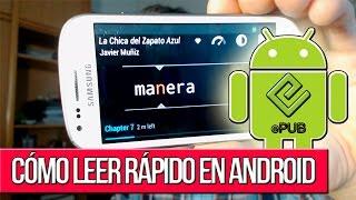 Cómo leer un Libro rápido en Android con Glance Reader (ePub)