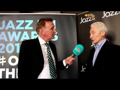 Rolling Stones Charlie Watts Gold Award recipient at the Jazz FM Awards 2017