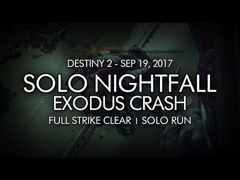 Destiny 2 - Solo Nightfall: Exodus Crash Completion (Week Three)