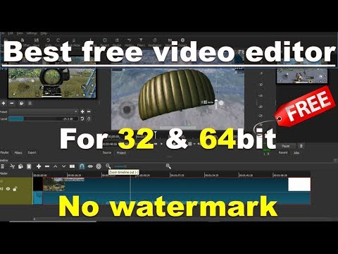 Best Free Vedio Editing Software Without Watermark For 32 & 64 Bit |2019|hindi | No Graphic Card