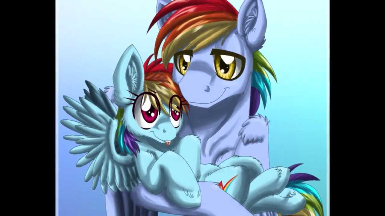 rainbow dashs father in my daughters eyes youtube