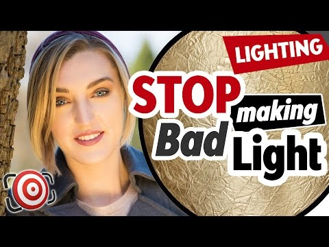 How to use a REFLECTOR the right way!  STOP using REFLECTORS to make bad outdoor portrait lighting