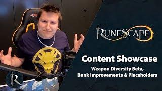 RuneScape Content Showcase (June 2019) - Weapon Diversity, Bank Improvements & Placeholders