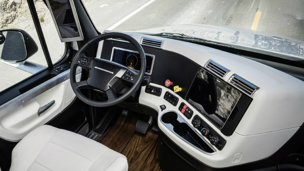 2015 freightliner inspiration truck interior youtube for Interior inspiration