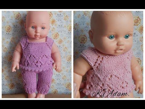 Вязаная спицами одежда на кукол
