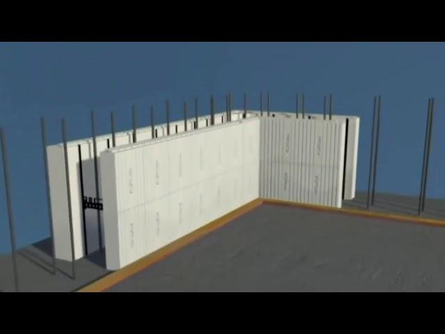 הדמיית בניית קירות ב ICF