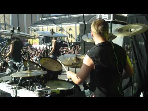 Pearl Artist Jan Rechberger/Amorphis Drum Cam Tuska 2011 - Crack In A Stone