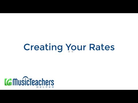 Creating Your Rates -- Music Teacher's Helper