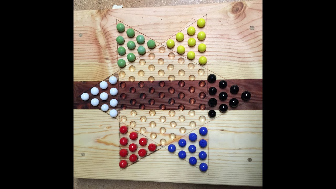How to build a chinese checker board youtube for Chinese checkers board template