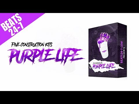 Hip Hop Trap Beat Cstructi Kits  Purple Life