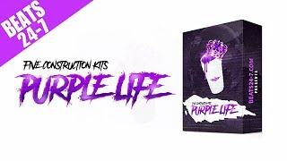 Hip hop trap beat construction kits - purple life