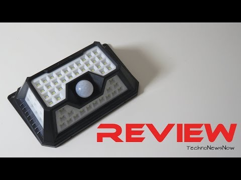 QWOO 66 LED Wireless Outdoor Solar Sensor Light Unboxing & Review