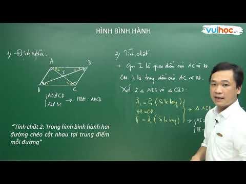 Toán 8 - Hình bình hành - Thầy Nguyễn Thành Chương