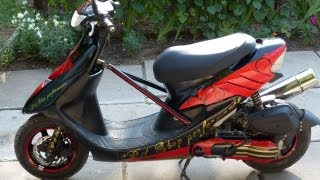 Honda Dio ZX 100cc.Стайлинг проект.История от начала до конца.