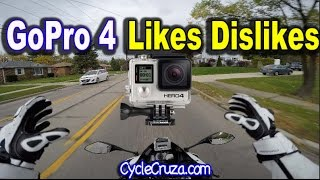 MotoVlog GoPro Hero 4 Black Camera Likes Dislikes - New Sony 4k Action Camera