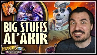 BIG STUFFS + AL'AKIR = OP! - Hearthstone Battlegrounds