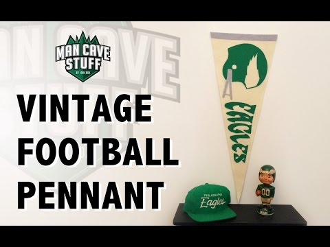 Vintage Football Pennant | DIY Banner Project