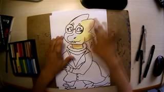 Рисуем (How to draw Alphys)