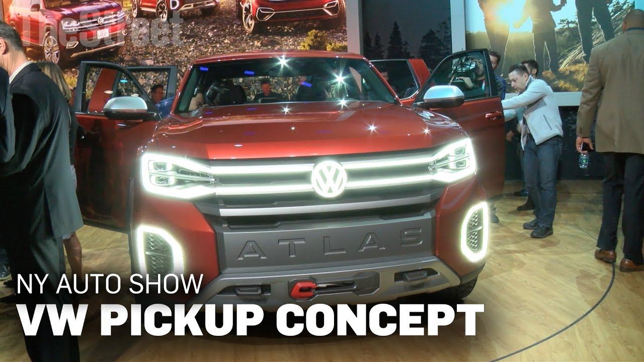 Auto Show Volkswagen Unveils New Concept Pickup Truck Youtube