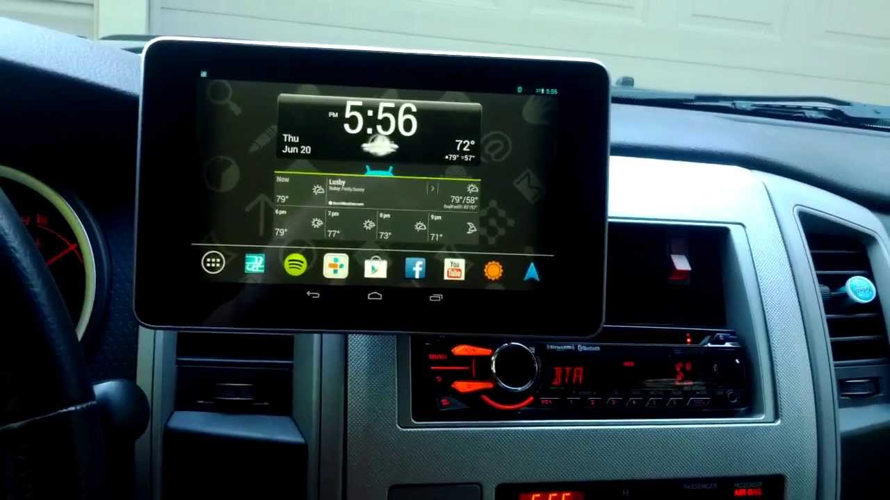 Nexus 7 Car Install Sony App Remote Head Unit Youtube