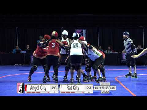 2017 International WFTDA Championships Game 10: Rat City Roller Derby vs  Angel City Derby