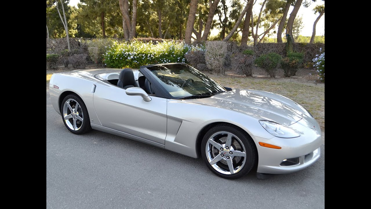 Corvette C6 For Sale >> SOLD 2007 Chevrolet Corvette Convertible in Machine Silver ...