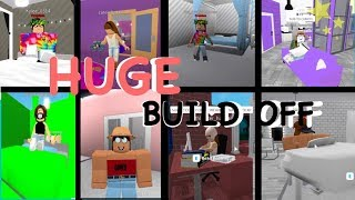 Huge BUILD-OFF Comfy VS Fans!! Welcome To Bloxburg//Roblox