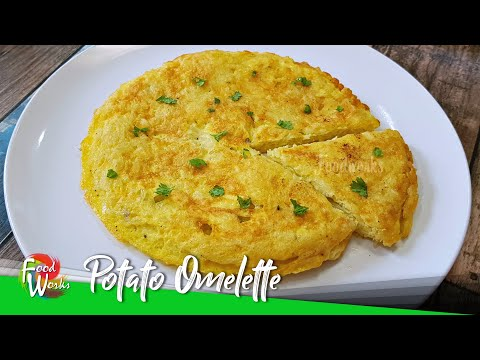 Potato Omelette   Simple Healthy Breakfast   Potato Egg Recipe   High Protein Breakfast   Foodworks