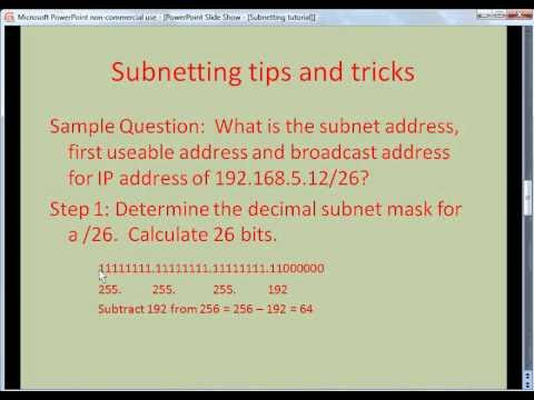 how to find out subnet