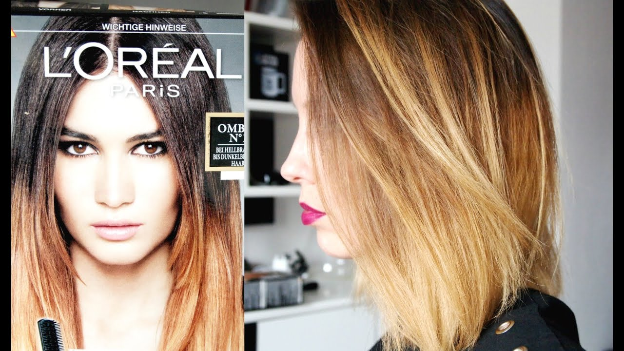Ombre Oder Balayage Selbstgemacht Youtube