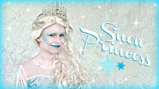 Winter Snow Princess Makeup and Costume
