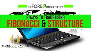 Forex Market Preview - 2 Ways To Trade Using Fibonacci & Structure