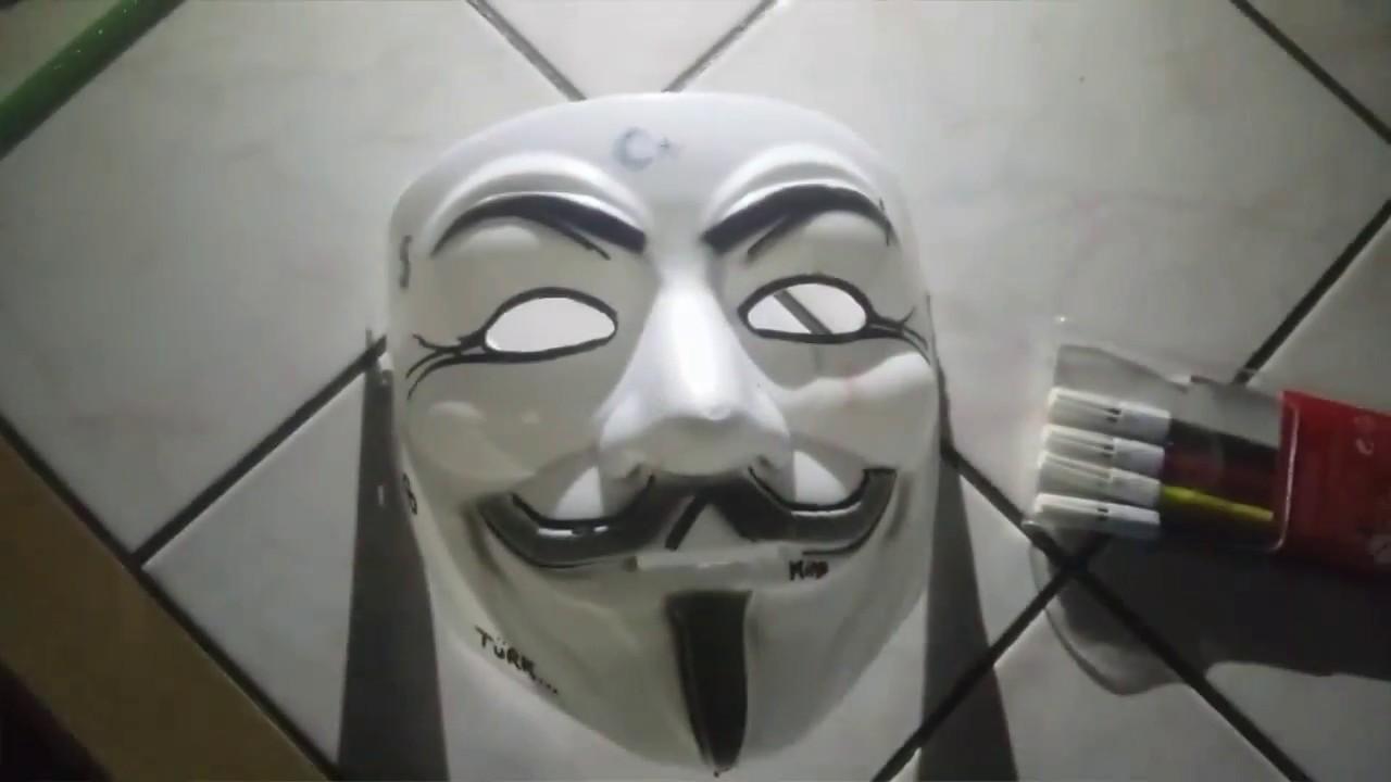 Vendetta Maskesi Boyama 1 Youtube