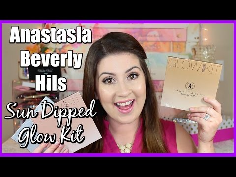 NEW Anastasia Beverly Hills Sun Dipped Glow Kit l Review/Swatches/Comparison