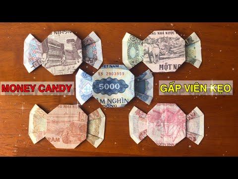 My Money CANDY    Origami Candy    Cách gấp VIÊN KẸO bằng tiền giấy    Nguyễn Thức Thời   Foci