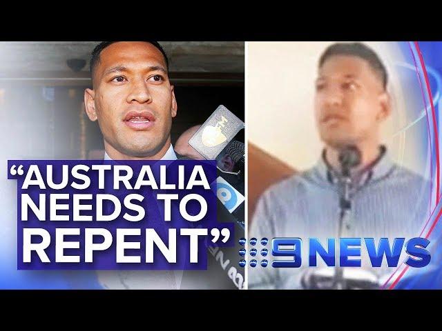 Israel Folau suggests bushfires are punishment for same-sex marriage | Nine News Australia