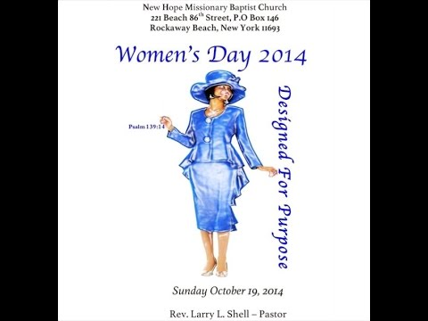 New Hope Missionary Baptist Church - Women's Day Service Part 1/2 ...