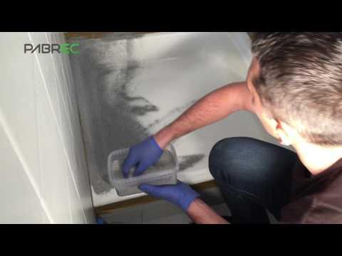 2K BathStone. Shower tray resurfacing. Stone effect.