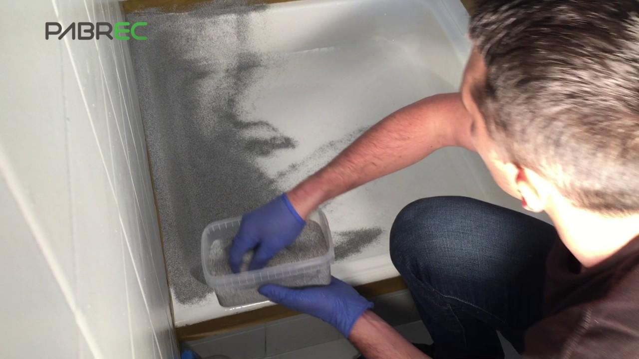 2k Bathstone Shower Tray Resurfacing Stone Effect