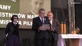 Marsz Rotmistrza Pileckiego i uroczystości w byłym więzieniu na Rakowieckiej