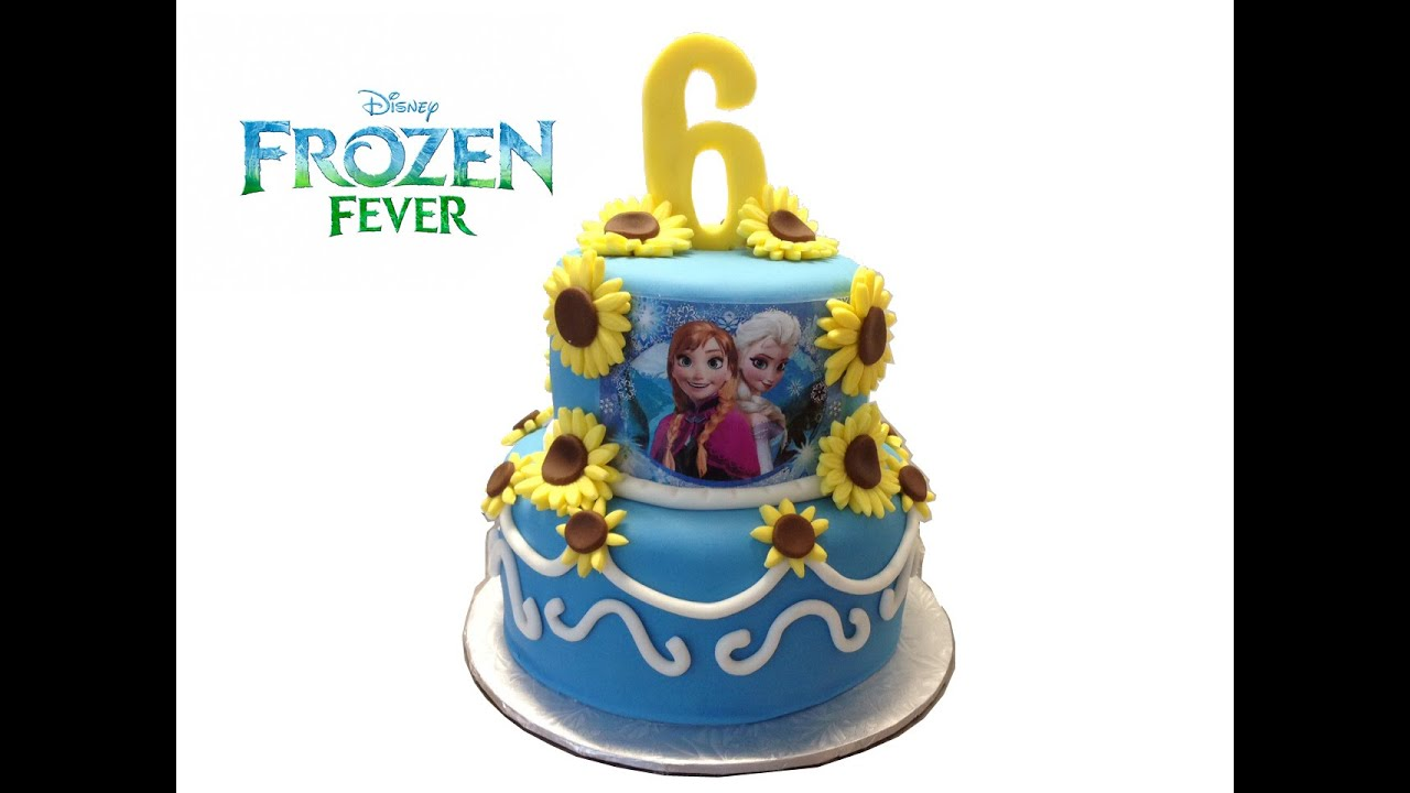 Disney Frozen Fever Birthday Cake YouTube