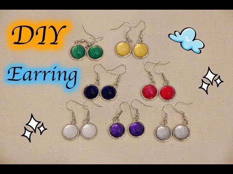 DIY Accessories イヤリングを作る方法 – 5 ideas how to make DIY earrings  Jewelry making by My little birds
