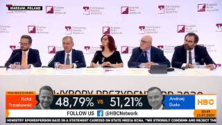 Electoral commission announces partial results of Polish presidential election 2020